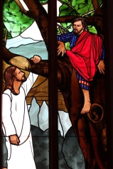One of our beautiful stained glass windows