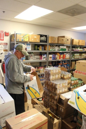 Behind the scenes at the Food Pantry