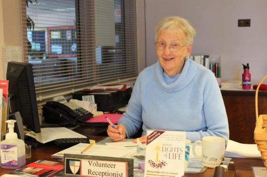 Volunteer Receptionists like Timmy are enormously helpful to the staff