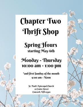 Thrift Shop Spring Hours