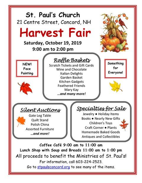 Harvest Fair Flyer